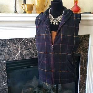 Ralph Lauren Hunter's Plaid Zipper Fleece Vest XL